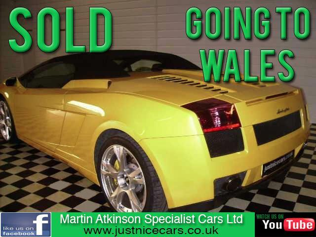 Lamborghini Gallardo 5.0 Spider V10 E-Gear Auto Convertible Petrol Yellow