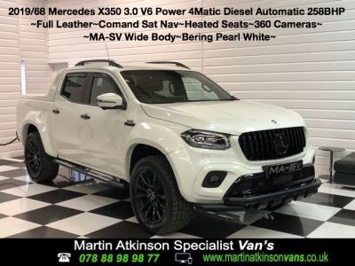 Mercedes-benz X Class 3.0 350d V6 4Matic MA-SV Widebody-X Power D/Cab Pickup 7G-Tronic plus Pick Up Diesel Bering WhiteMercedes-benz X Class 3.0 350d V6 4Matic MA-SV Widebody-X Power D/Cab Pickup 7G-Tronic plus Pick Up Diesel Bering White at Martin Atkinson Cars Scunthorpe