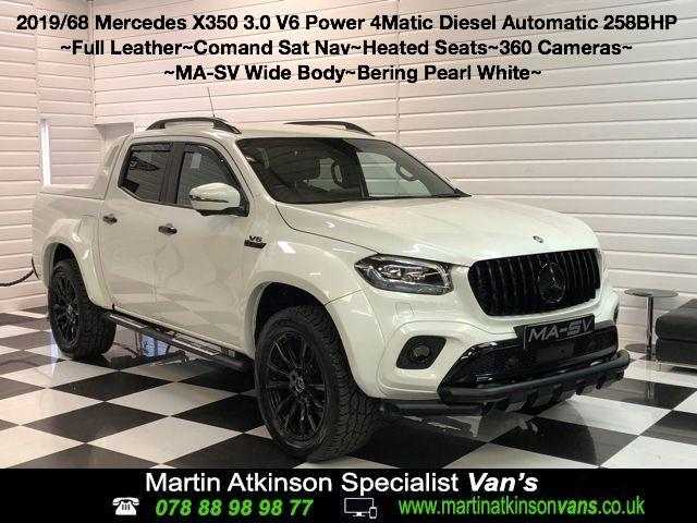 Mercedes-benz X Class 3.0 350d V6 4Matic MA-SV Widebody-X Power D/Cab Pickup 7G-Tronic plus Pick Up Diesel Bering White