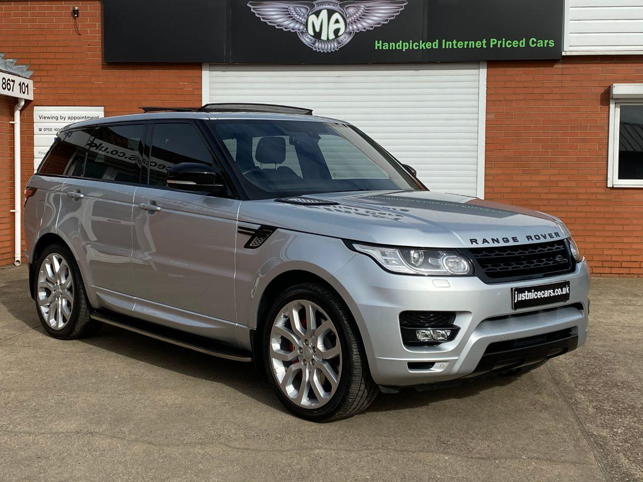 Land Rover Range Rover Sport 4.4 SDV8 Autobiography Dynamic 5dr Auto Estate Diesel Indus Silver