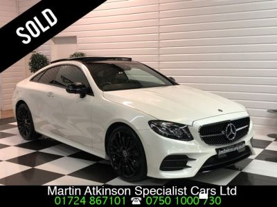 Mercedes-Benz E Class 2.0 E300 AMG Line Premium Plus 2dr 9G-Tronic Coupe Petrol Diamond WhiteMercedes-Benz E Class 2.0 E300 AMG Line Premium Plus 2dr 9G-Tronic Coupe Petrol Diamond White at Martin Atkinson Cars Scunthorpe