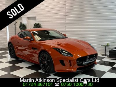 Jaguar F-type 5.0 V8 Supercharged V8 R 2dr Auto AWD Coupe Petrol Firesand OrangeJaguar F-type 5.0 V8 Supercharged V8 R 2dr Auto AWD Coupe Petrol Firesand Orange at Martin Atkinson Cars Scunthorpe