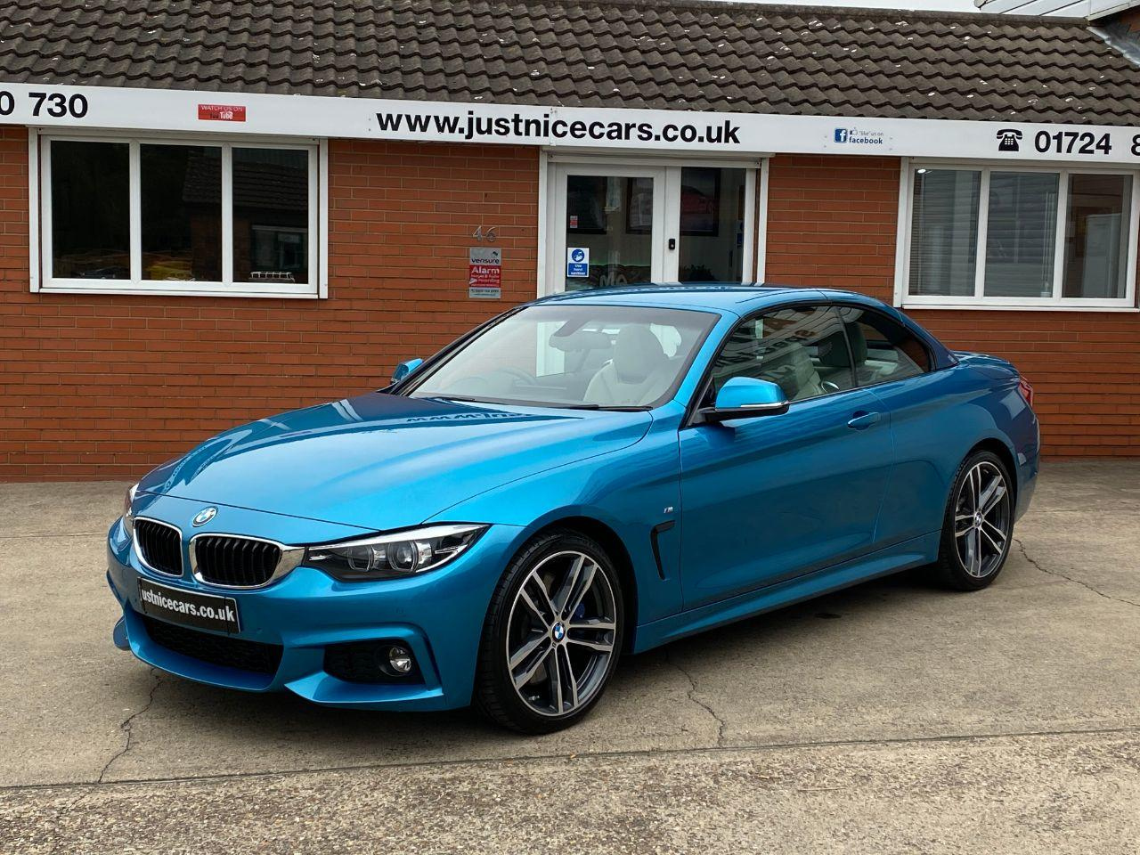 BMW 4 Series 3.0 430d M Sport 2dr Auto Professional Media Convertible Diesel Snapper Rocks Blue Metallic