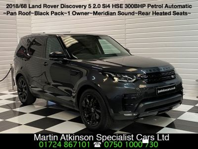 Land Rover Discovery 2.0 Si4 HSE 5dr Auto Estate Petrol Carpathian Grey MetallicLand Rover Discovery 2.0 Si4 HSE 5dr Auto Estate Petrol Carpathian Grey Metallic at Martin Atkinson Cars Scunthorpe