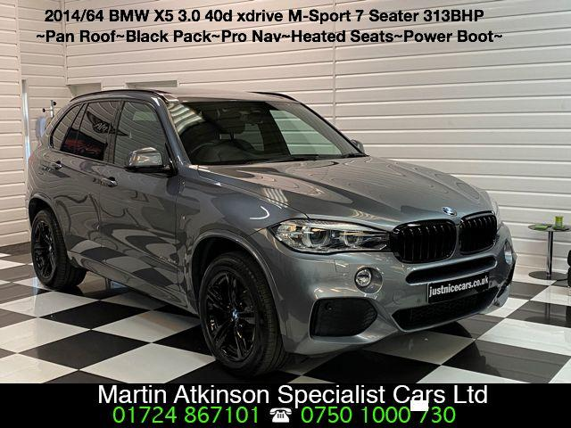 BMW X5 3.0 xDrive40d M Sport 5dr 7 Seater Estate Diesel Space Grey Metallic