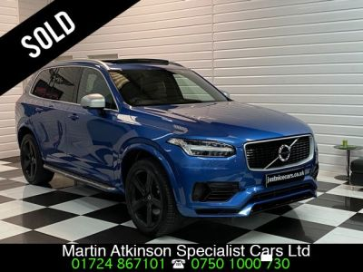 Volvo XC90 2.0 T8 Hybrid R-Design 5dr Geartronic Estate Petrol / Electric Hybrid Blue MetallicVolvo XC90 2.0 T8 Hybrid R-Design 5dr Geartronic Estate Petrol / Electric Hybrid Blue Metallic at Martin Atkinson Cars Scunthorpe