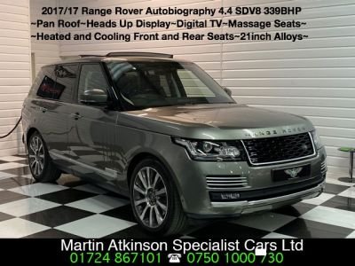 Land Rover Range Rover 4.4 SDV8 Autobiography 4dr Automatic Estate Diesel Silicon Silver Premium MetallicLand Rover Range Rover 4.4 SDV8 Autobiography 4dr Automatic Estate Diesel Silicon Silver Premium Metallic at Martin Atkinson Cars Scunthorpe