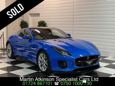 Jaguar F-type 2.0 R-Dynamic i4 300BHP Coupe Petrol Ultra Blue MetallicJaguar F-type 2.0 R-Dynamic i4 300BHP Coupe Petrol Ultra Blue Metallic at Martin Atkinson Cars Scunthorpe