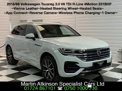 Volkswagen Touareg 3.0 V6 TDi R-Line 4Motion 231BHP Automatic Estate Diesel Candy WhiteVolkswagen Touareg 3.0 V6 TDi R-Line 4Motion 231BHP Automatic Estate Diesel Candy White at Martin Atkinson Cars Scunthorpe