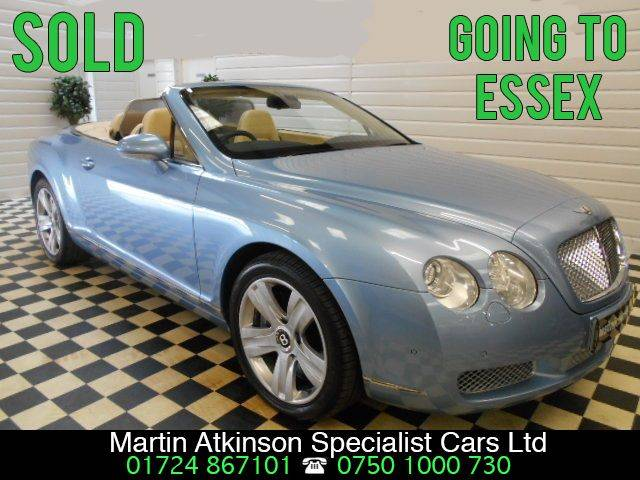 Bentley Continental GTC 6.0 W12 4dr Auto convertible Convertible Petrol Silverlake Blue
