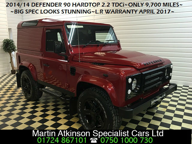Land Rover Defender Hard Top TDCi [2.2] CONVERSION Four Wheel Drive Diesel Red