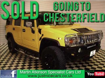 Hummer H2 RHD 6.0 LUX~RIGHT HAND DRIVE~1 OWNER~ 4 X 4 Petrol YellowHummer H2 RHD 6.0 LUX~RIGHT HAND DRIVE~1 OWNER~ 4 X 4 Petrol Yellow at Martin Atkinson Cars Scunthorpe