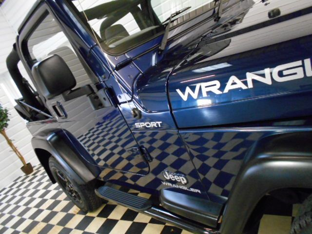 Jeep Wrangler 4.0 Sport 2dr 4X4 6 SPEED SOFT TOP~28000 MILES~ Convertible Petrol Sapphire Blue Metallic