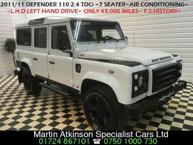 Land Rover Defender Defender 110 LHD (Left Hand Drive)  2.4 TDCi Station Wagon 7 Seater 5dr Estate Diesel Fuji White