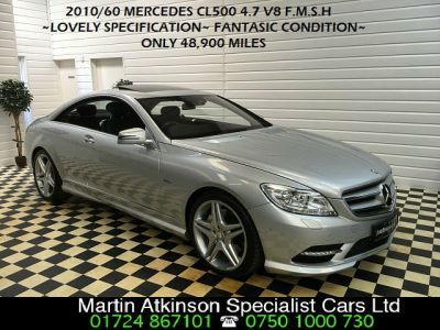 Mercedes-Benz CL CL 500 4.7 V8 7G-TronicBlueEFFICIENCY COUPE Coupe Petrol SilverMercedes-Benz CL CL 500 4.7 V8 7G-TronicBlueEFFICIENCY COUPE Coupe Petrol Silver at Martin Atkinson Cars Scunthorpe