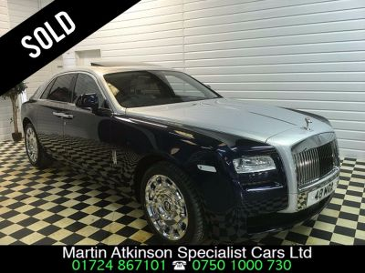 Rolls Royce Ghost 6.6 4dr Auto ~ SOLD ~ Saloon Petrol Blue / SilverRolls Royce Ghost 6.6 4dr Auto ~ SOLD ~ Saloon Petrol Blue / Silver at Martin Atkinson Cars Scunthorpe