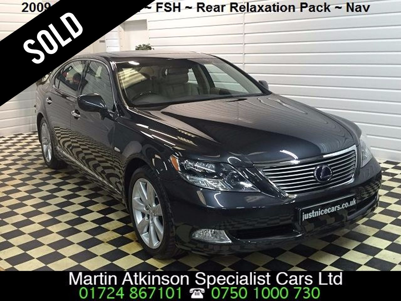 Lexus LS 600h L 5.0 4dr CVT Auto (RSR) Rear Relaxation Pack Saloon Hybrid Grey