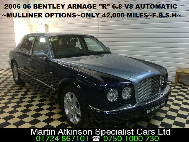 Bentley Arnage 6.8 Arnage R Mulliner SOLD GOING TO ESSEX Saloon Petrol Blue