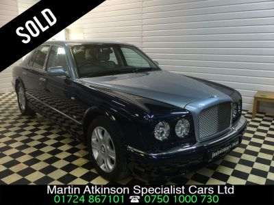 Bentley Arnage 6.8 Arnage R Mulliner SOLD GOING TO ESSEX Saloon Petrol BlueBentley Arnage 6.8 Arnage R Mulliner SOLD GOING TO ESSEX Saloon Petrol Blue at Martin Atkinson Cars Scunthorpe