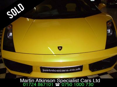 Lamborghini Gallardo 5.0 Spider V10 E-Gear Auto Convertible Petrol YellowLamborghini Gallardo 5.0 Spider V10 E-Gear Auto Convertible Petrol Yellow at Martin Atkinson Cars Scunthorpe