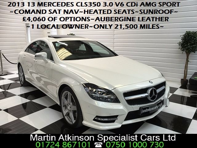 Mercedes-Benz CLS 3.0 CLS350 V6 CDI BlueEFFICIENCY AMG Sport 4dr Tip Auto Coupe Diesel Diamond White Pearl Metallic