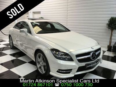 Mercedes-Benz CLS 3.0 CLS350 V6 CDI BlueEFFICIENCY AMG Sport 4dr Tip Auto Coupe Diesel Diamond White Pearl MetallicMercedes-Benz CLS 3.0 CLS350 V6 CDI BlueEFFICIENCY AMG Sport 4dr Tip Auto Coupe Diesel Diamond White Pearl Metallic at Martin Atkinson Cars Scunthorpe