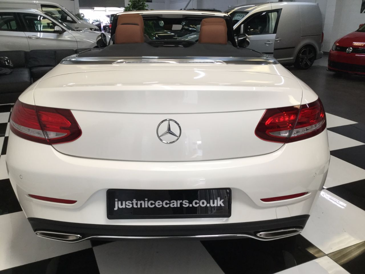 Mercedes-Benz C Class C200 Sport 2.0 9G-Tronic Automatic Convertible Petrol White