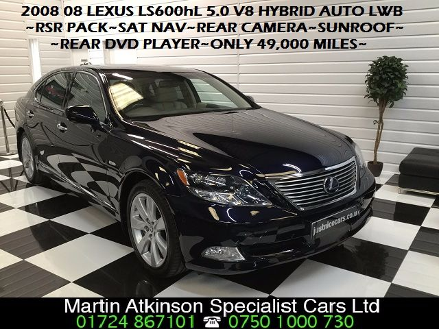 Lexus LS 600h L 5.0 V8 4dr CVT Auto [Rear Relaxation Pack] Saloon Hybrid Windsor Blue Metallic