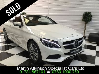 Mercedes-Benz C Class C200 Sport 2.0 9G-Tronic Automatic Convertible Petrol WhiteMercedes-Benz C Class C200 Sport 2.0 9G-Tronic Automatic Convertible Petrol White at Martin Atkinson Cars Scunthorpe