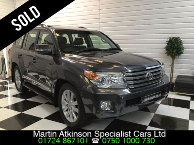 Toyota Land Cruiser 4.5 D-4D V8 5dr Auto Estate Diesel Grey MetallicToyota Land Cruiser 4.5 D-4D V8 5dr Auto Estate Diesel Grey Metallic at Martin Atkinson Cars Scunthorpe