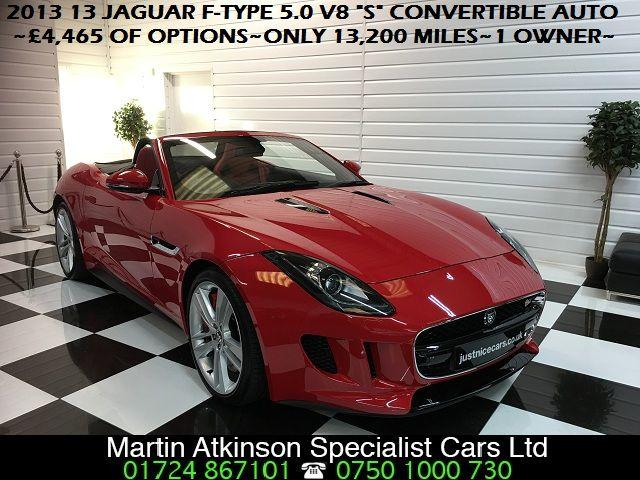 Jaguar F-type 5.0 Supercharged V8 S 2dr Auto Convertible Petrol Salsa Red