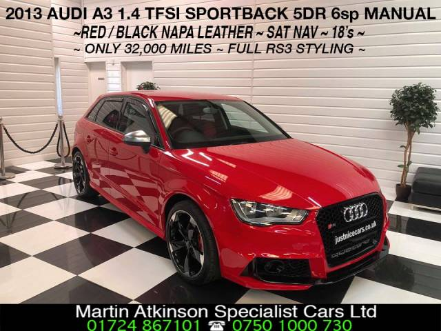 Audi A3 1.4 TFSI RS3 REPLICA Hatchback Petrol Brilliant Red