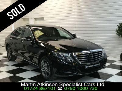 Mercedes-Benz S Class 3.5 S400L Hybrid SE Line 4dr Auto (Executive Rear Seat Pack) Saloon Hybrid Obsidian Black MetallicMercedes-Benz S Class 3.5 S400L Hybrid SE Line 4dr Auto (Executive Rear Seat Pack) Saloon Hybrid Obsidian Black Metallic at Martin Atkinson Cars Scunthorpe