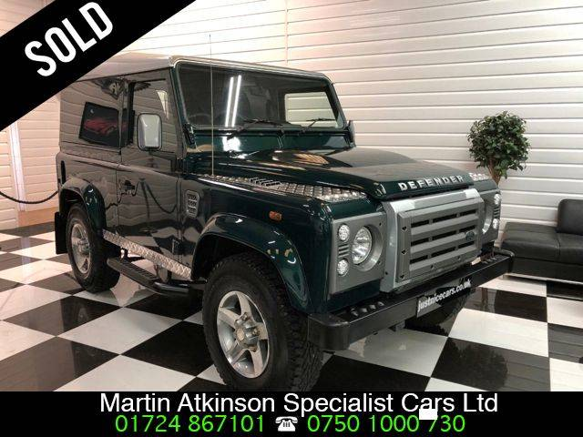 Land Rover Defender Hard Top TDCi [2.2] ~AIR CON~ Four Wheel Drive Diesel British Racing Green
