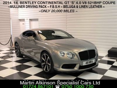 Bentley Continental GT 4.0 V8 S Mulliner Coupe 521BHP Coupe Petrol Extreme SilverBentley Continental GT 4.0 V8 S Mulliner Coupe 521BHP Coupe Petrol Extreme Silver at Martin Atkinson Cars Scunthorpe