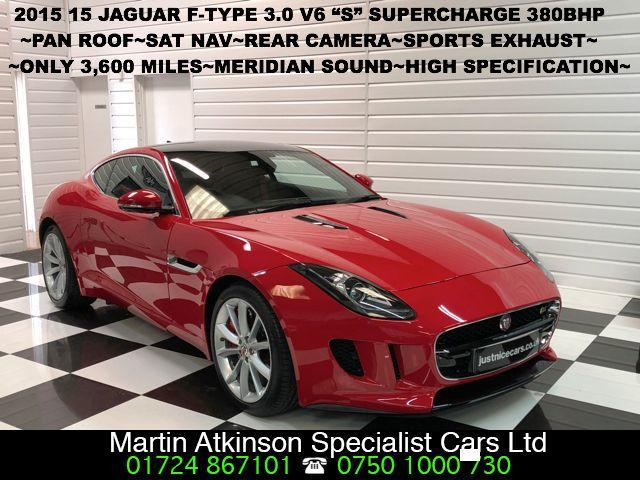 Jaguar F-type 3.0 F-TYPE S V6 AUTO Coupe Petrol Salsa Red