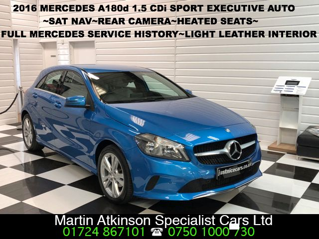 Mercedes-Benz A Class 1.5 A180d Sport Executive 5dr Automatic Hatchback Diesel South Seas Blue