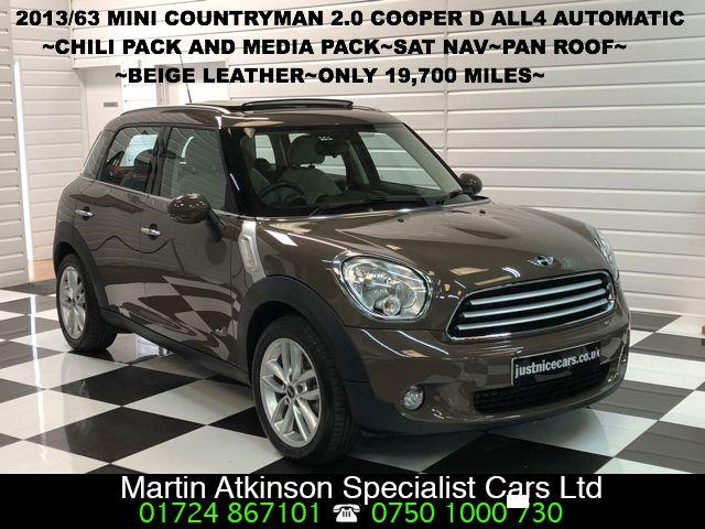 Mini Countryman 2.0 Cooper D ALL4 4X4 5dr Auto~HUGE SPEC~ Hatchback Diesel Light Coffee