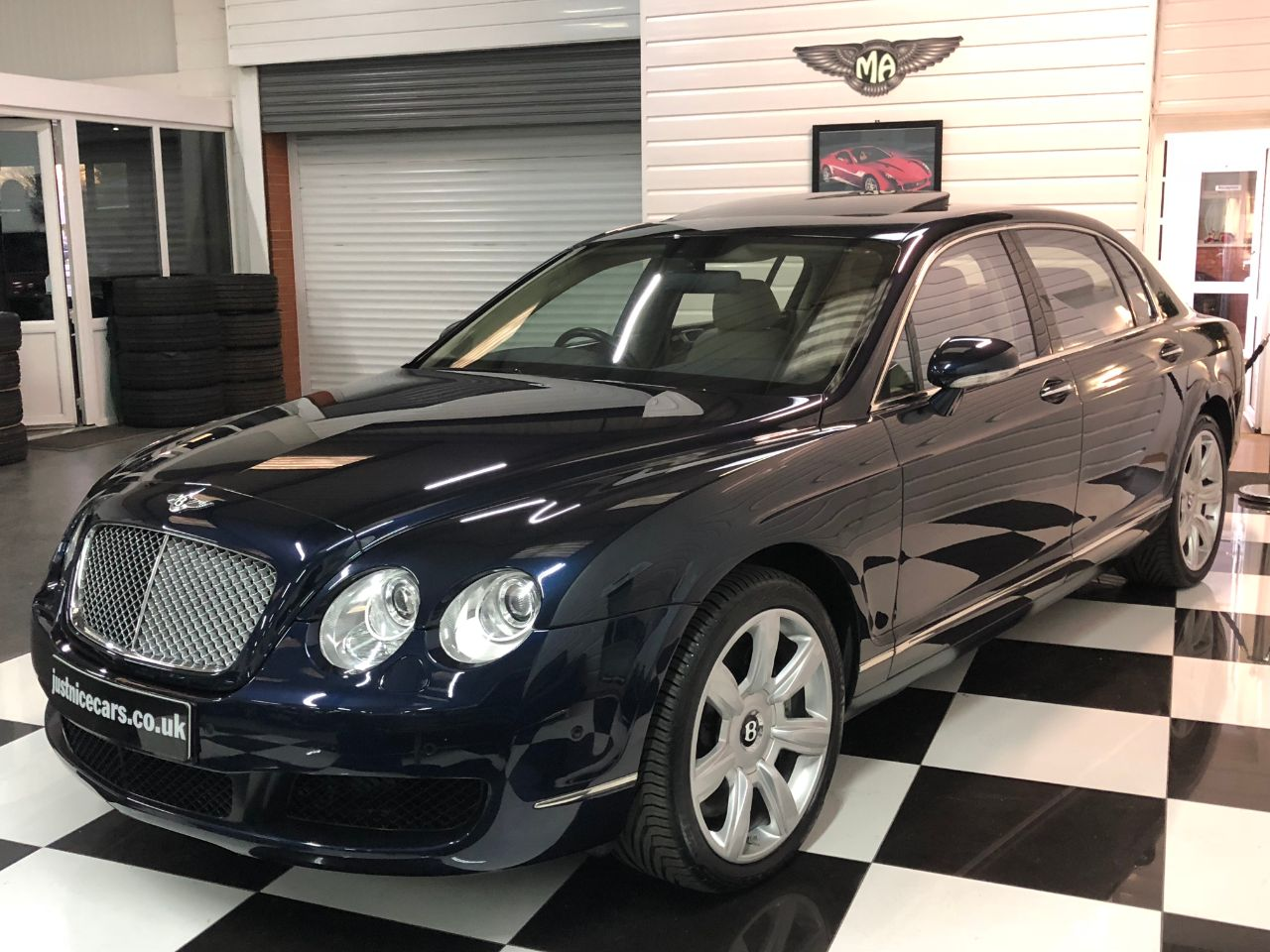 Bentley Continental Flying Spur 6.0 W12 4dr Auto~Sunroof~ Saloon Petrol Dark Sapphire Blue Metallic