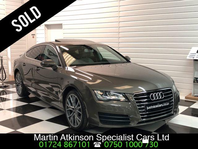 Audi A7 3.0 V6 TDI Quattro SE 245BHP 5dr S Tronic~Sunroof~ Hatchback Diesel Dakota Grey Brown
