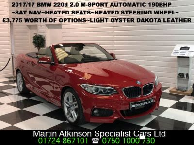 BMW 2 Series 2.0 220d M-Sport Convertible ~£3,775 Options~ Convertible Diesel RedBMW 2 Series 2.0 220d M-Sport Convertible ~£3,775 Options~ Convertible Diesel Red at Martin Atkinson Cars Scunthorpe