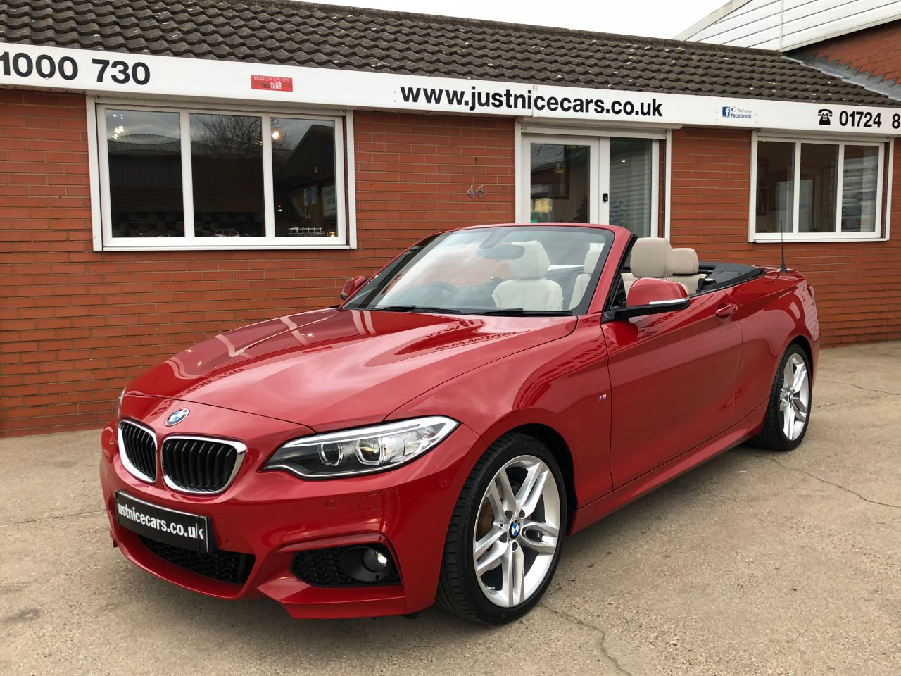 BMW 2 Series 2.0 220d M-Sport Convertible ~£3,775 Options~ Convertible Diesel Red