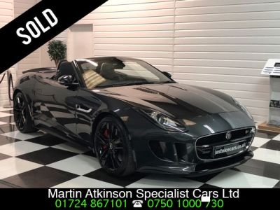 Jaguar F-type 5.0 V8 S Supercharged  2dr Auto 495BHP Convertible Petrol Stratus GreyJaguar F-type 5.0 V8 S Supercharged  2dr Auto 495BHP Convertible Petrol Stratus Grey at Martin Atkinson Cars Scunthorpe