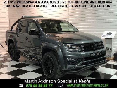 Volkswagen Amarok GTS EDITION Pick Up Highline 3.0 V6 TDI 224 BMT 4M Auto Pick Up Diesel Indium GreyVolkswagen Amarok GTS EDITION Pick Up Highline 3.0 V6 TDI 224 BMT 4M Auto Pick Up Diesel Indium Grey at Martin Atkinson Cars Scunthorpe