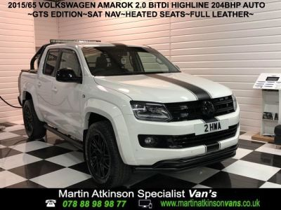 Volkswagen Amarok GTS PACK Pick Up Highline 2.0 BiTDI 204 BMT 4MTN Auto Pick Up Diesel Candy WhiteVolkswagen Amarok GTS PACK Pick Up Highline 2.0 BiTDI 204 BMT 4MTN Auto Pick Up Diesel Candy White at Martin Atkinson Cars Scunthorpe