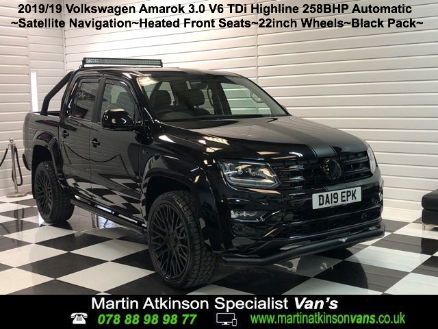 Volkswagen Amarok GTS Styling Pack Pick Up Highline 3.0 V6 TDI 258PS BMT 4M Auto Pick Up Diesel Deep Black
