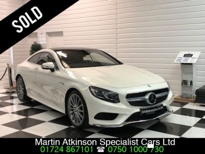 Mercedes-Benz S Class S500 AMG Line Premium 4.7 V8 2dr Auto~Big Spec Coupe Petrol Diamond White Pearl MetallicMercedes-Benz S Class S500 AMG Line Premium 4.7 V8 2dr Auto~Big Spec Coupe Petrol Diamond White Pearl Metallic at Martin Atkinson Cars Scunthorpe