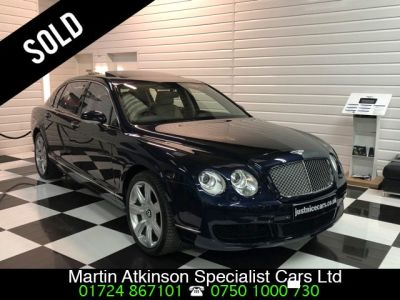 Bentley Continental Flying Spur 6.0 W12 4dr Auto~Sunroof~ Saloon Petrol Dark Sapphire Blue MetallicBentley Continental Flying Spur 6.0 W12 4dr Auto~Sunroof~ Saloon Petrol Dark Sapphire Blue Metallic at Martin Atkinson Cars Scunthorpe