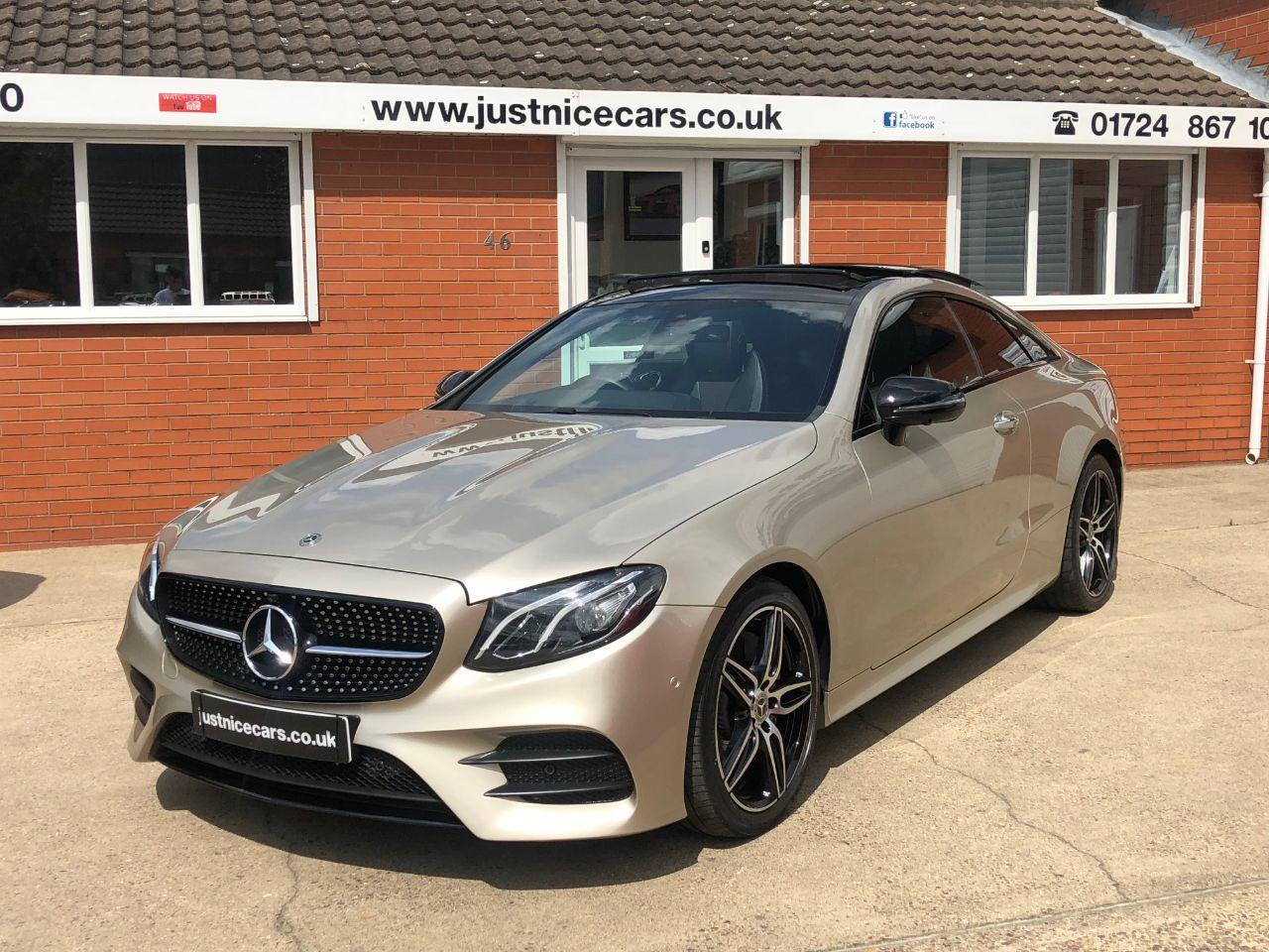 Mercedes-Benz E Class 2.0 E220d AMG Line Premium 2dr 9G-Tronic Coupe Diesel Aragonite Silver Gold Metallic