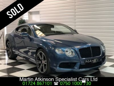 Bentley Continental GT 4.0 V8 2dr Auto 500BHP Coupe Petrol Crystal Blue MetallicBentley Continental GT 4.0 V8 2dr Auto 500BHP Coupe Petrol Crystal Blue Metallic at Martin Atkinson Cars Scunthorpe